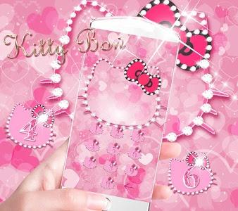 screenshot of Pink Kitty Diamond Theme version 1.1.2