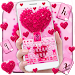 Download Pink Love Heart Keyboard Theme 10001003 APK