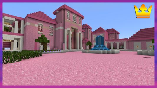 screenshot of Pink Princess House Maps for MCPE version 1.0