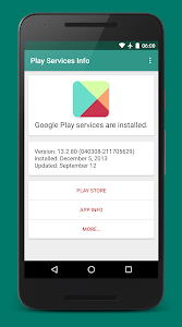 Download Play Services Info (Update) 0.15 APK