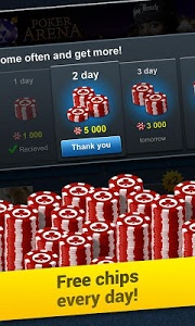 screenshot of Poker Arena: texas holdem game version 1.14.36