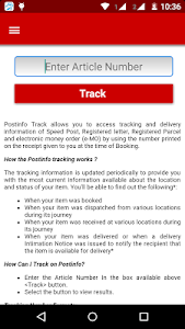 screenshot of Postinfo version 2.5