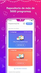 screenshot of Programming Hub: Learn to code version 5.0.8