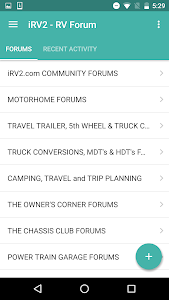 screenshot of RV Owners Community version 5.2.6