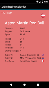 Download Racing Calendar 2018 (No Ads) 4.4 APK