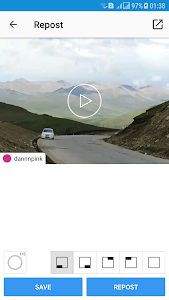 screenshot of Repost Photo & Video for Instagram version 1.0.2
