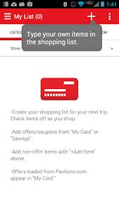 screenshot of Safeway version 4.1.0