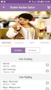 screenshot of Salonatcom - Salon Booking App version 1.3.8