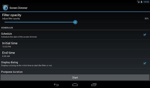 screenshot of Screen Dimmer version 2.3.3a