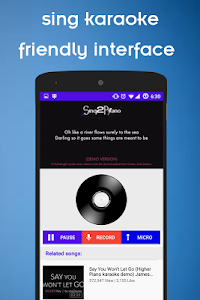 screenshot of Sing karaoke & record version 1.0.2