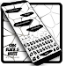 Download Sms Black and White keyboard Theme 10001003 APK