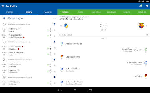screenshot of SofaScore Live Scores version 5.6.1