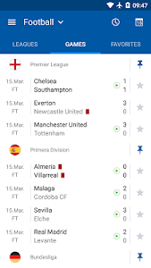 screenshot of SofaScore Live Scores version 5.7.0
