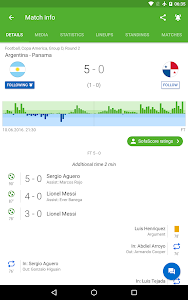 screenshot of SofaScore Live Score version 5.26.4