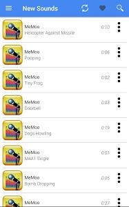 screenshot of Sound Effects MeMoo version 7