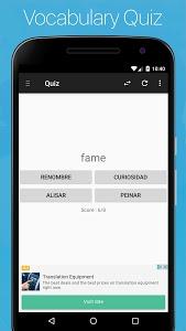 screenshot of Spanish English Dictionary version 7.3.10