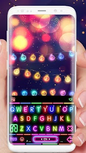 Download Sparkle Neon Lights Keyboard Theme 1.0 APK