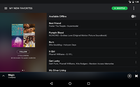 screenshot of Spotify - Music and Podcasts version 8.4.89.515