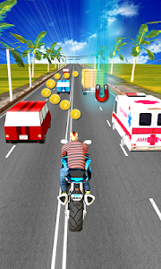 screenshot of Subway Moto Rush version 1.0