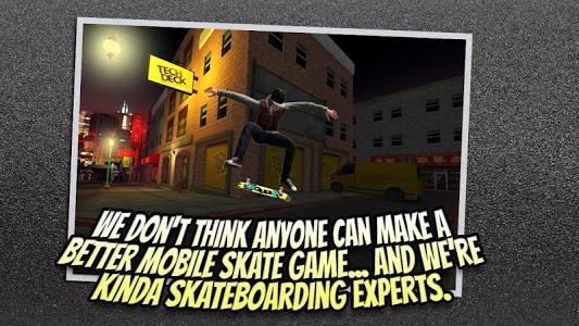 screenshot of Tech Deck Skateboarding version 2.1.1