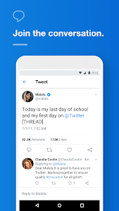 screenshot of Twitter version Varies with device