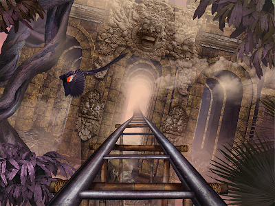 Download VR Roller Coaster Temple Rider  APK