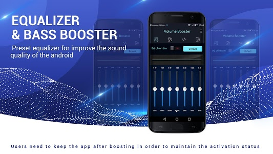 screenshot of Volume Booster and Equalizer version 1.4.1