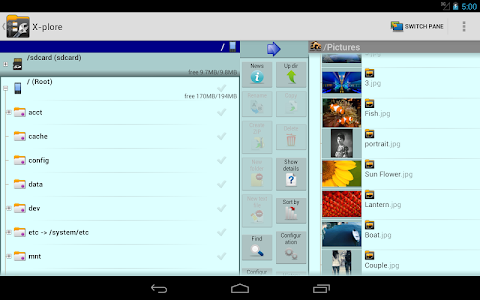 screenshot of X-plore File Manager version 4.12.00