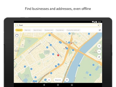 screenshot of Yandex.Maps version 3.84