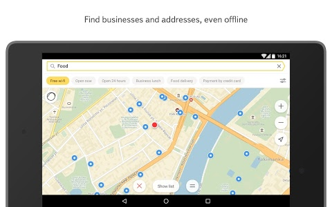 screenshot of Yandex.Maps version 3.84